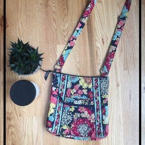 Vera Bradley zip hipster cross-body bag